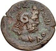 Diobol-Domitien ,Zeus Ammon (Alexandrie ) – reverse