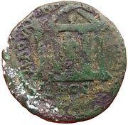 Tetrassaria - Septimius Severus (Asklepios in a temple, Nikopolis ad Istrum mint) – reverse