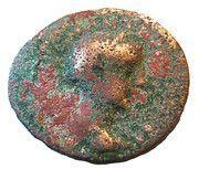 Assarion - Gordianus III (Coela, galley prow type) – obverse