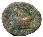 Assarion - Gordianus III (Coela, galley prow type) – reverse