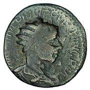 AE26 Philip II (Pisidia, Antioch) – obverse