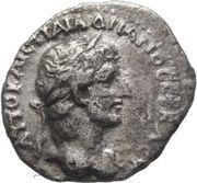 Hemidrachm - Hadrian (Mount Argaeus) – obverse