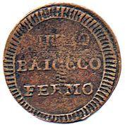 ½ Baiocco – reverse