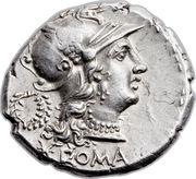 Denarius (Servilia: Gaius Servilius; ROMA / C•SERVEILI•M•F) -  obverse