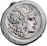 Denarius (Furia: Furius Purpurio; PVR ROMA) -  obverse