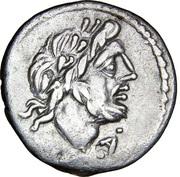 Quinarius (Cloelia: Titus Cloelius; T CLOVLI) -  obverse