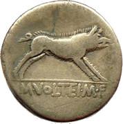 Denarius (Volteia: Marcus Volteius; M•VOLTEI•M•F) -  obverse
