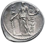 Denarius (Pomponia: Quintus Pomponius Musa; Q•POMPONI MVSA; Melpomene) -  reverse