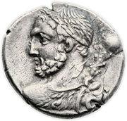 Denarius (Quinctia: Titus Quinctius; TI Q D•S•S) -  obverse