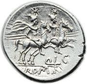 Denarius (Lutatia: Quintus Lutatius Cerco or Catulus; QLC ROMA) -  reverse