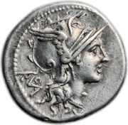 Denarius (Didia: Titus Didius; ROMA / T•DEIDI) -  obverse