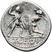 Denarius (Didia: Titus Didius; ROMA / T•DEIDI) -  reverse