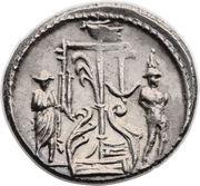 Denarius (Sulpicia: Servius Sulpicius; SER SVLP) -  obverse