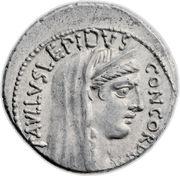 Denarius (Aemilia: Lucius Aemilius Lepidus Paullus; PAVLLVS•LEPIDVS CONCORDIA / TER PAVLLVS) – obverse