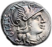 Denarius (Lucretia: Gneius Lucretius Trio; TRIO / CN•LVCR ROMA) -  obverse