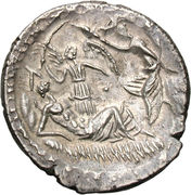 Denarius (Aemilia: Lucius Aemilius Buca; L•BVCA) -  obverse