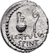 Denarius - Cassius (C•CASSI IMP / LENTVLVS SPINT) -  obverse