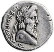 Denarius - Pompeius Magnus (VARRO•PRO•Q / MAGN•PRO COS) -  obverse