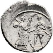 Denarius - Gnaeus Pompeius (M•POBLICI•LEG PRO•PR / CN•MAGNVS•IMP) -  reverse