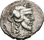 Denarius (Vibia: Gaius Vibius Pansa; PANSA / C•VIBIVS•C•F) -  obverse