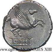 Denarius (Titia: Quintus Titius; Liber / Q•TITI) -  obverse