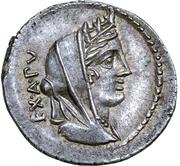 Denarius (Fabia: C. Fabius C. f. Hadrianus; C•FABI•C•F) -  obverse