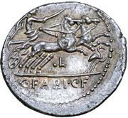 Denarius (Fabia: C. Fabius C. f. Hadrianus; C•FABI•C•F) -  reverse
