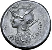 Denarius (Licinia: P. Licinius Nerva; P•NERVA) -  obverse