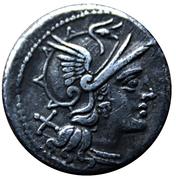 Denarius (M. Atilius Saranus) -  obverse