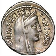 Denarius (Aemilia: Lucius Æmilius Lepidus Paullus) – obverse