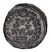 Follis - Constans I (Vot XV; Antioch) – reverse