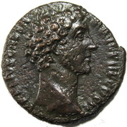 As - Marcus Aurelius (HILARITAS; Strike as Caesar under Antoninus Pius) – obverse