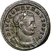 Follis - Constantius I (MEMORIA FELIX) – obverse