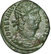 Follis - Constantius II (VICTORIAE DD AVGG Q NN; Thessalonica) – obverse