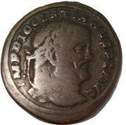 Follis - Diocletianus (SACR MONET AVGG ET CAESS NOSTR; Aquileia mint) – obverse