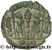 Follis - Constantinus II (GLORIA EXERCITVS; Lugdunum) – reverse