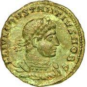 Nummus - Constantinus II (GLORIA EXERCITVS; Siscia) – obverse