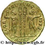 Nummus - Constantinus II (GLORIA EXERCITVS; Siscia) – reverse