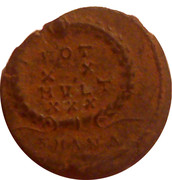 Follis - Constantius II (VOT XX MVLTI XXX; Antioch) – reverse
