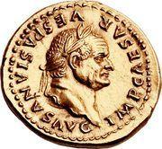 Aureus - Vespasianus (COS VII) – obverse