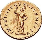 Aureus - Domitianus (IMP XIIII COS XIII CENS P P P) – reverse