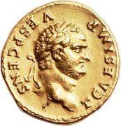 Aureus - Vespasianus (PONTIF TRI POT) – obverse
