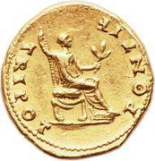 Aureus - Vespasianus (PONTIF TRI POT) – reverse
