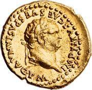 Aureus - Titus (TR P VIIII IMP XIIII COS VII P P) – obverse