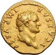 Aureus - Vespasianus (PONTIF TR POT) – obverse