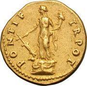 Aureus - Vespasianus (PONTIF TR POT) – reverse