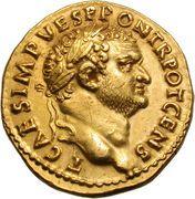 Aureus - Vespasianus (PAX AVG) – obverse