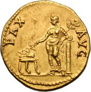 Aureus - Vespasianus (PAX AVG) – reverse