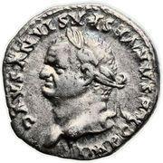 Denarius - Vespasianus (TR POT X COS VIIII) -  obverse