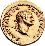 Aureus - Vespasianus (COS V) – obverse